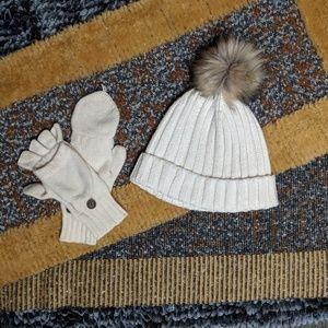Thick, 6', Marled,Textured Scarf w/ Faux Fur Trim